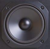 Schwarzer Lautsprecher Lizenzfreies Stockbild