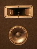 Schwarzer Lautsprecher Lizenzfreie Stockbilder