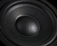 Schwarzer Lautsprecher-Abschluss Stockbild