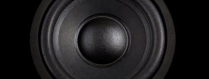 Schwarzer Lautsprecher weit Lizenzfreies Stockbild