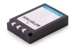 Schwarzer Lithium-Ionen-Batterie-Satz (Beschneidungspfad) lizenzfreies stockfoto