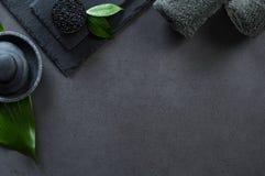 Schwarzer Luxusbadekurort stockbilder