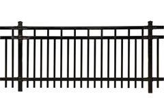 Schwarzer Mahlzeit-Zaunabschnitt Stockfotos