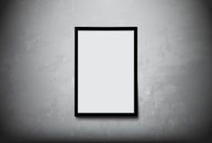 Schwarzer moderner Rahmen mit Leerraum für Sie simsen auf Betonmauervektordesign Stockfoto