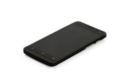 Schwarzer moderner Smartphone lokalisiert Stockfotos