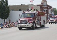 Schwarzer Nebenfluss-ländlicher Feuerwehr-LKW Front View Stockfotos