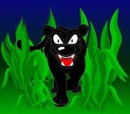 Schwarzer Panther vektor abbildung