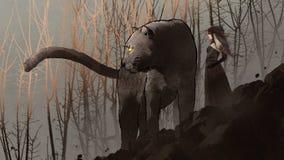 Schwarzer Panther und die dunkle Königin Lizenzfreie Stockbilder