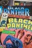 Schwarzer Panther-Wunder-Comic-Bücher stockfoto