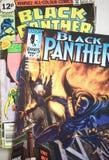 Schwarzer Panther-Wunder-Comicssuperheld stockfotos