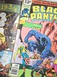 Schwarzer Panther-Wunder-Comicssuperheld stockbild