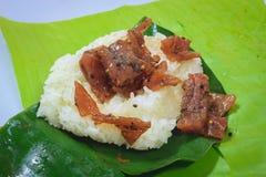 Schwarzer Pfeffer und gebratener Reis des süßen Schweinefleisch Lizenzfreies Stockbild