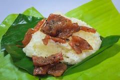 Schwarzer Pfeffer und gebratener Reis des süßen Schweinefleisch Lizenzfreies Stockfoto
