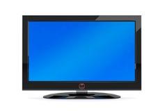 Schwarzer Plasmafernsehapparat Stockfotografie