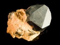 Schwarzer Quarzkristall Lizenzfreies Stockfoto
