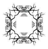 Schwarzer Rahmen in der gebürtigen Art mit Drachen, Vektor Lizenzfreies Stockbild