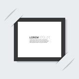 Schwarzer Rahmen mit einem übersichtlichen Design des Hintergrundes Lizenzfreie Stockfotos