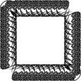 Schwarzer Rahmen mit Rosen Lizenzfreie Stockbilder