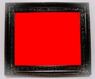 Schwarzer Rahmen mit roter Abdeckung lizenzfreies stockbild