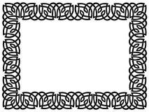 Schwarzer Rand mit keltischer Verzierung Stockbild