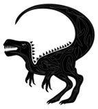 Schwarzer Raubvogel vektor abbildung