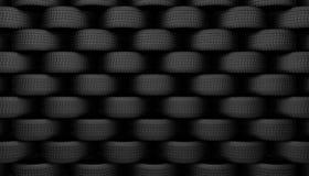 Schwarzer Reifengummi Stockfoto