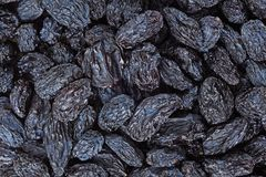 Schwarzer Rosinenhintergrund Stockbild