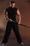 Schwarzer Samurai Stockfotografie
