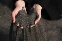 Schwarzer Sand Lizenzfreies Stockbild