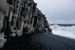 Schwarzer Sand-Strand - Island Lizenzfreie Stockfotos