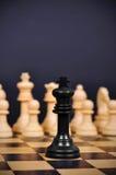 Schwarzer Schach-König stockfoto