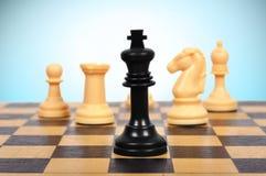 Schwarzer Schach-König stockfotografie