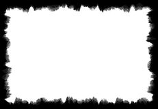 Schwarzer Schmutz-schmutziger und abgenutzter Rahmen Lizenzfreie Stockbilder