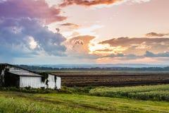 Schwarzer Schmutz-Sonnenuntergang Lizenzfreies Stockfoto
