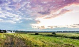Schwarzer Schmutz-Sonnenuntergang Lizenzfreie Stockbilder
