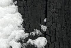 Schwarzer Schnee Stockbilder