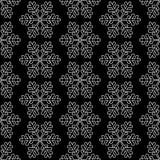 Schwarzer Schneeflockenhintergrund stock abbildung