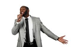 Schwarzer singender Mann Lizenzfreies Stockbild