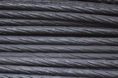 Schwarzer Stahlkabelhintergrund Stockfotografie