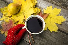 Schwarzer starker Kaffee Stockbild