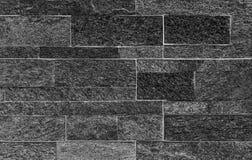 Schwarzer Steinwandbeschaffenheits- oder -zusammenfassungshintergrund Lizenzfreies Stockbild