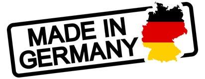 schwarzer Stempel mit dem Text hergestellt in Deutschland Lizenzfreies Stockfoto