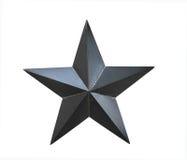 Schwarzer Stern auf einem weißen Hintergrund Lizenzfreies Stockbild