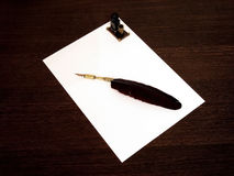Schwarzer Stift und schwarze Tinte Stockfotografie