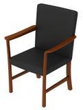 Schwarzer Stuhl Stockfoto