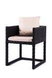 Schwarzer Stuhl und Kissen Stockfoto