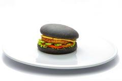 Schwarzer Teig des Burgers Lizenzfreies Stockfoto