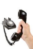 Schwarzer Telefon Empfänger lizenzfreie stockfotografie