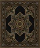 Schwarzer Teppich mit abstrakten Blumen stock abbildung