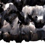 Schwarzer Tintenhintergrund mit Bürste streicht Überlagerungen Abstrakte Beschaffenheit Stockfoto